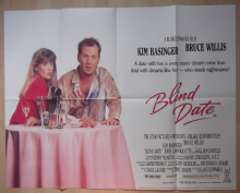 Blind Date, Original UK Quad Poster, Bruce Willis, Kim Basinger, '87